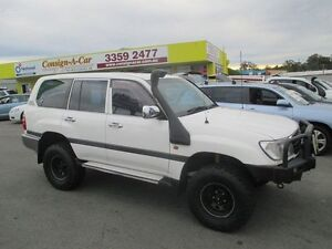 2000 Toyota Landcruiser HZJ105R GXL White 5 Speed Manual Wagon Kedron Brisbane North East Preview