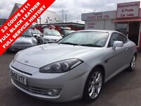 HYUNDAI S-COUPE 2.0 SIII 3d 141 BHP FULL BLACK LEATHER INTERIOR, F (silver) 2007