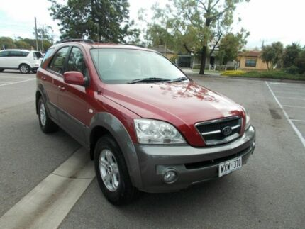 2003 Kia Sorento BL Ruby Red & Grey 4 Speed Automatic Wagon Alberton Port Adelaide Area Preview