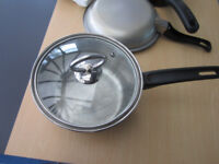 Chefs stainless steel pan - only £3 + free small frying pan and small saucepan