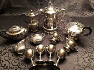 Lovely Vintage Tea and Coffee Services & Silver Goblets