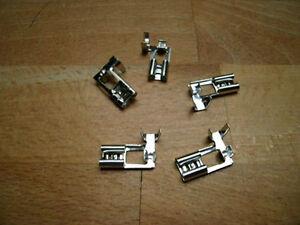 50 Flachsteckhülsen abgwinkelt 6,3 unisoliert b.2,5 mm²