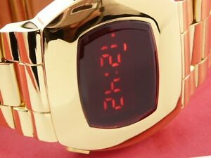 JAMES BOND 70s 1970s Old Vintage Style LED LCD DIGITAL Rare Retro watch P2 G