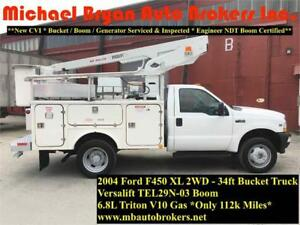 2004 FORD F450 34FT BUCKET TRUCK *FULLY CERTIFIED* GREAT PRICE