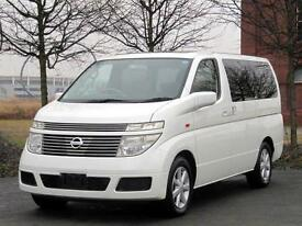 NISSAN ELGRAND E51 AUTO 4X4 TWIN SUNROOFS * LOW MILEAGE * 8 SEATER CAMPER VAN