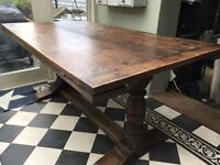 Old Oak Refectory Dining Table
