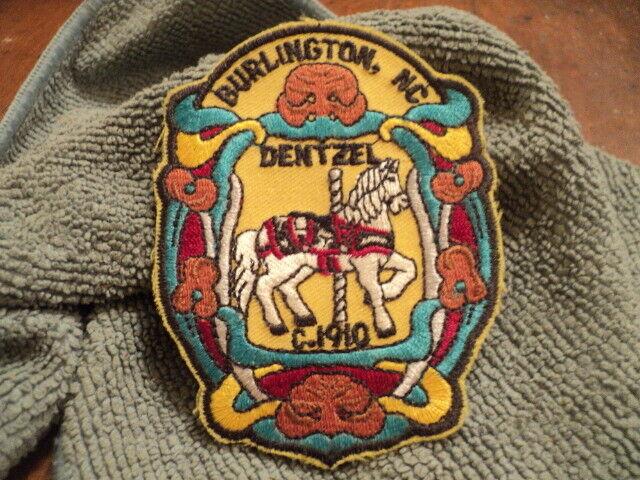Embroidered Patch, Merry Go Round, Burlington, NC. Dentzel - $1.99