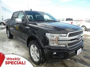 2018 Ford F-150 Platinum 4x4 - Leather, SYNC Connect, Moonroof