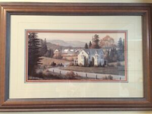 """BILL SAUNDERS - SET OF 2 - 18""""x24"""" - PERFECT CODITION"""