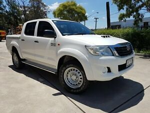 2012 Toyota Hilux KUN26R MY12 SR (4x4) White 4 Speed Automatic Dual Cab Pick-up Moorebank Liverpool Area Preview