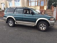 Mitsubishi Shogun Sport Equippe, 2.5 Td, low mileage, very reliable, good condition