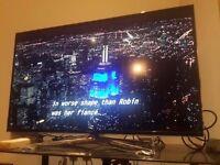 "Samsung 3D LED TV 40"" with active 3D glasses, smart remote"