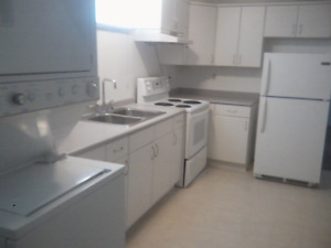 Bright 2 bedroom, lower duplex in suite laundry and half garage!