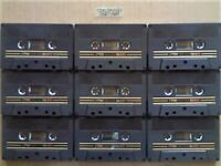 A2Z VERY RARE 9x TDK SA-X 60 DUAL LAYER CHROME CASSETTE TAPES 1982-1984 GOLD & BLACK ISSUE