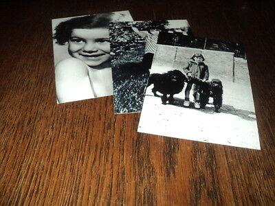 SHEILA LOT DE PHOTOS FORMAT 10*15 N&B - THEME 001 ENFANCE - 3 PRISES