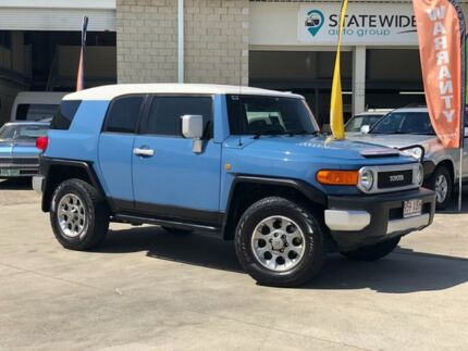 2012 Toyota FJ Cruiser GSJ15R Blue 5 Speed Automatic Wagon East Brisbane Brisbane South East Preview