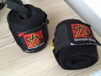 Weight lifting belt, lifting straps, wrist wraps & lifting sleeves