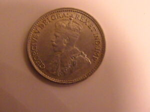 1918 CANADIAN FIVE CENT SILVER  COIN