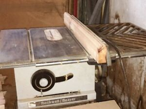 ROCKWELL  BEAVER  TABLE  SAW  FOR  SALE