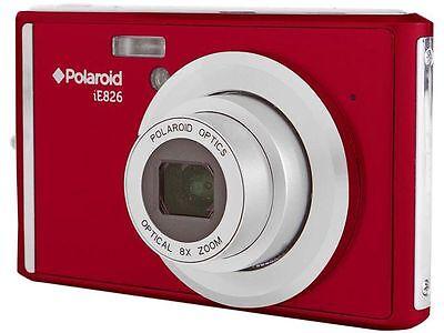 Polaroid iE826 Red 18 MP 8X Optical Zoom Digital Camera