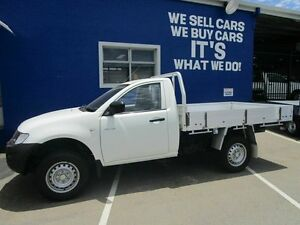 2013 Mitsubishi Triton MN MY14 GL White 5 Speed Manual Cab Chassis Welshpool Canning Area Preview