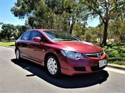 2006 Honda Civic 8th Gen MY07 VTi Red 5 Speed Automatic Sedan Medindie Walkerville Area Preview