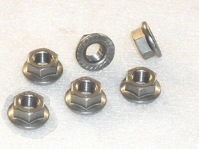 6X M10X125MM A4 316 STAINLESS STEEL FLANGE NUTS METRIC FINE <em>YAMAHA</em> SP