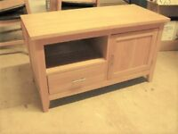 Attractive solid oak TV unit