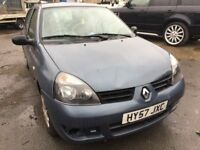 Cheap car of the day, 2007 Renault Clio, starts and drives well, 57,000 miles, very low, car located