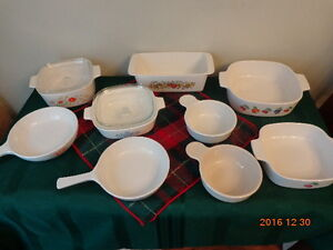 CORNING WARE Dishes:  All 9 For Only $38.00!