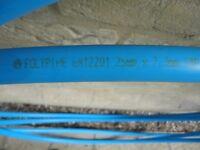 Blue MDPE Water Pipe 25mm x 10 Metres