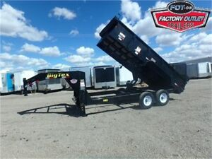 14K – 7 X 16 GN DUMP TRAILER – ROLL TARP, RAMPS & TAXES INCL!