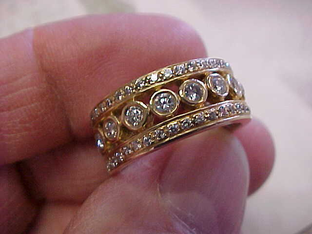 Beautiful 1.29 Ctw Diamond Ring 14k Gold Band Style For Man Or Woman Size 6-1/2