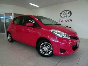 2012 Toyota Yaris NCP130R YR Pink 4 Speed Automatic Hatchback Westcourt Cairns City Preview