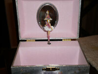 Musical Ballerina Jewellery Box Fairy Themed Shimmery Silver