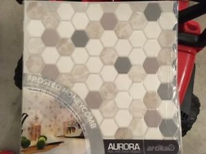 Brand New Aurora Peel and Stick Mosaic Tile/Backsplash x7
