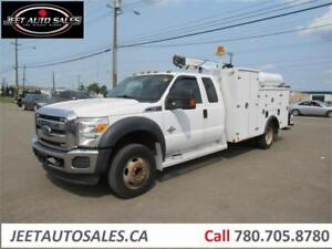 2011 Ford Super Duty F-550 Extended Cab Service truck with crane
