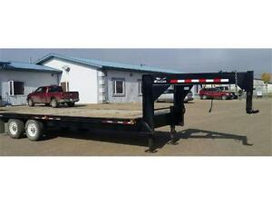 2009 GOOSE NECK 14,000 LB. Dual Axle Trailer