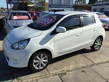 2012 Mitsubishi Mirage LA MY14 LS White 5 Speed Manual Hatchback Park Holme Marion Area Preview