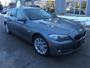 2013 BMW 528i XDRIVE*PREMIUM*NAVI*360CAMRA*43000KM*CINAMON LETHR