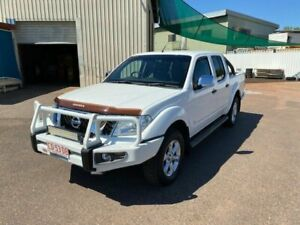 2013 Nissan Navara D40 MY12 ST-X 550 (4x4) White 7 Speed Automatic Dual Cab Utility Holtze Litchfield Area Preview