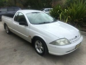 2001 Ford Falcon Auii XLS White 4 Speed Automatic Utility Macquarie Hills Lake Macquarie Area Preview