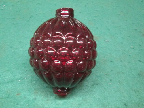 Newly Made Red Ruby Glass Lightning Rod Ball Nice Design Old Farm Barn Primitive