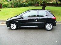 Black pueguot 206 Diesel 72k miles £ 850