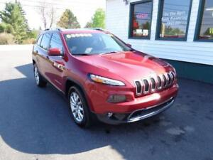 2017 Jeep Cherokee Limited 4x4 for $239 bi-weekly all in!