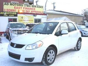 """ LOW KILOMETERS "" 2011 SUZUKI SX4 AUTO LOADED 68K-100% FINANCE"