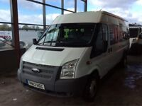 2012 , Ford , Transit , 17 seater , minibus , low mileage only 24k , 6 speed , fsh