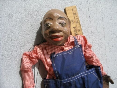 Vintage String Puppet Marionette Tall Man Homemade