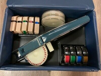 Vintage 1960s Nib M-10 Dymo Tapewriter Embossing Tool Label Maker With Case