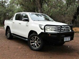 2016 Toyota Hilux GUN126R SR Double Cab White 6 Speed Sports Automatic Cab Chassis Kalamunda Kalamunda Area Preview